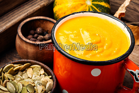 seasonal pumpkin soup