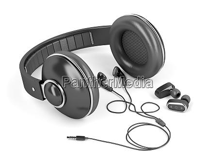 different types of earphones