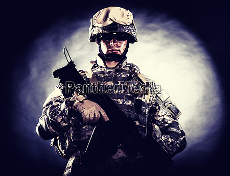 soldier of special forces with assault