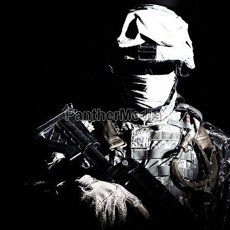 modern infantry high contrast portrait on