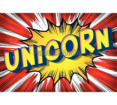 unicorn comic book style words