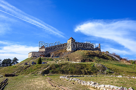 famous rasnov fortress at daylight