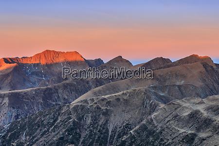 mountain landscape in fagaras mountains romania