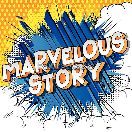 marvelous story comic book style