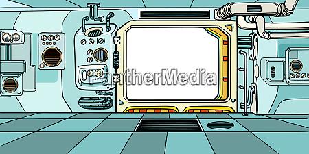 navigator cabin of the spacecraft