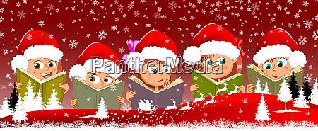 children read books for christmas 1