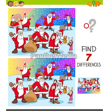 find differences with christmas characters