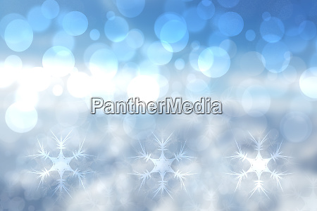 abstract blurred festive blue background