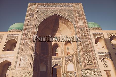 madrasa entrance in uzbekistan
