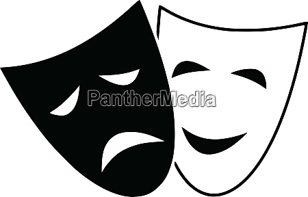 tragedy, drama, theatre, comedy, mask, expression - 26074671