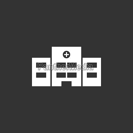 krankenhaussymbol auf schwarzem hintergrund