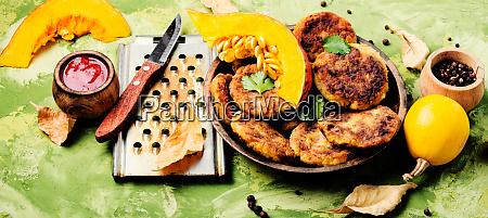 diet vegetable pumpkin cutlet