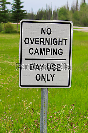 a no overnight camping day use