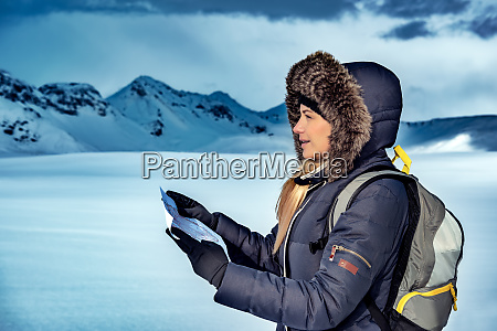 winter trekking in iceland