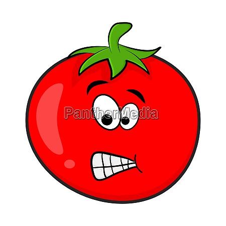 funny tomato character cartoon design isolated