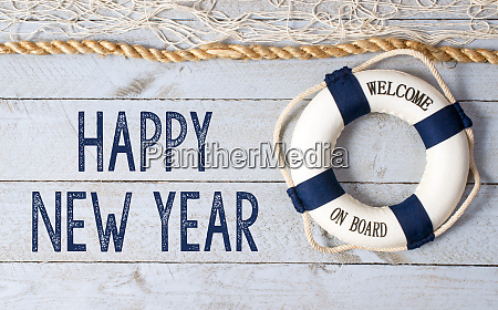 happy new year welcome on