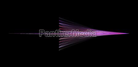 abstract purple arrow isolated on black