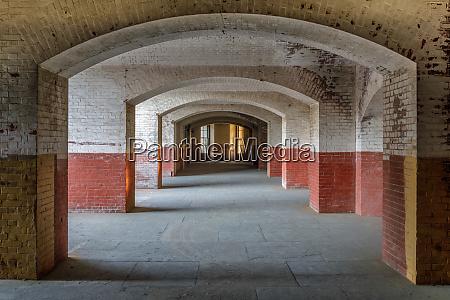 empty corridors of fort point