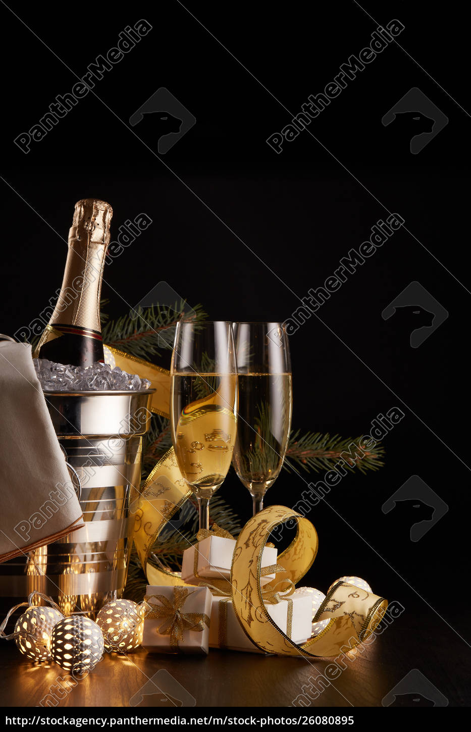 champagne, and, christmas, and, new, year - 26080895