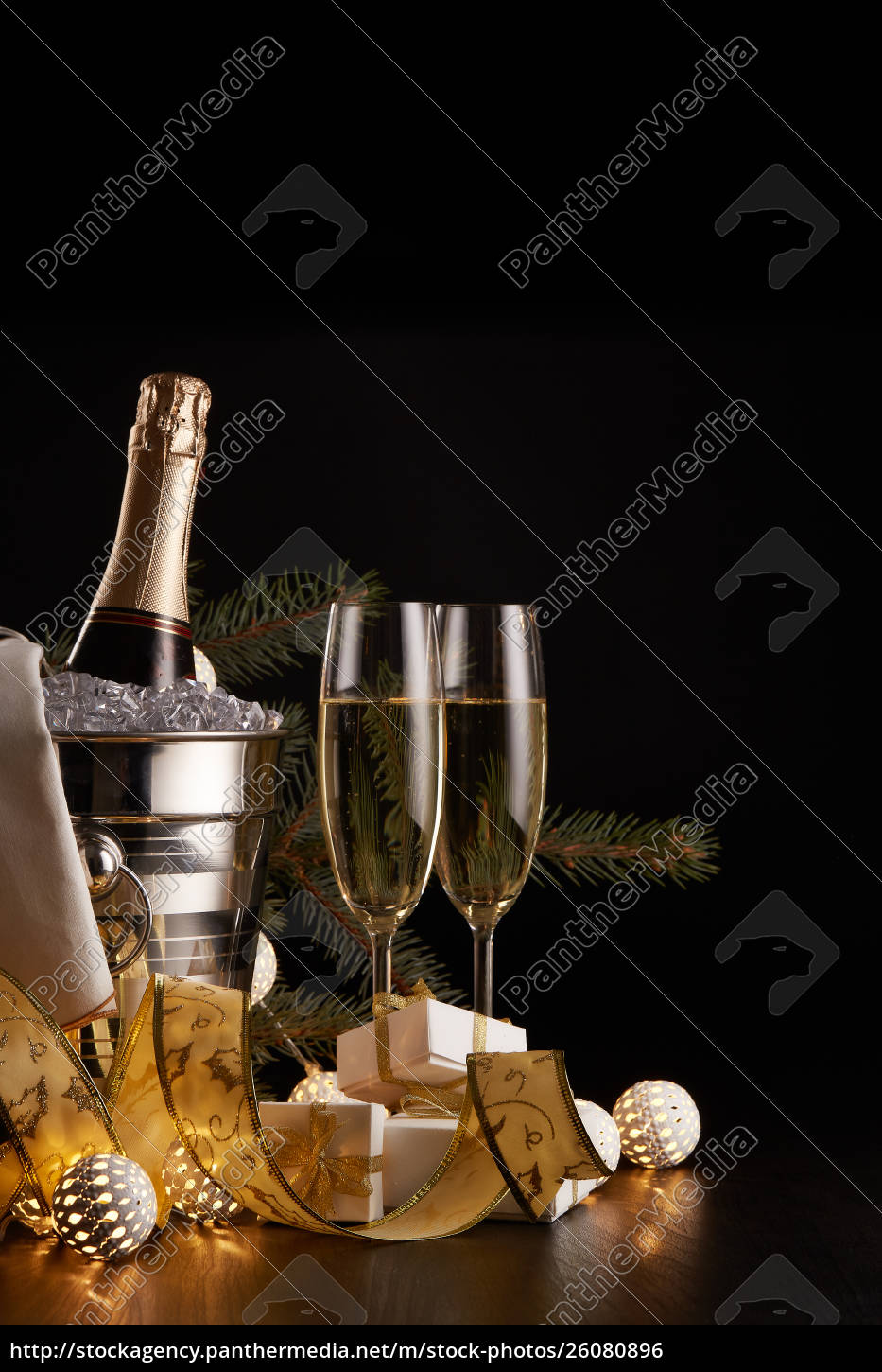 champagne, and, christmas, and, new, year - 26080896