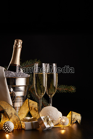 champagne, and, christmas, and, new, year - 26080898