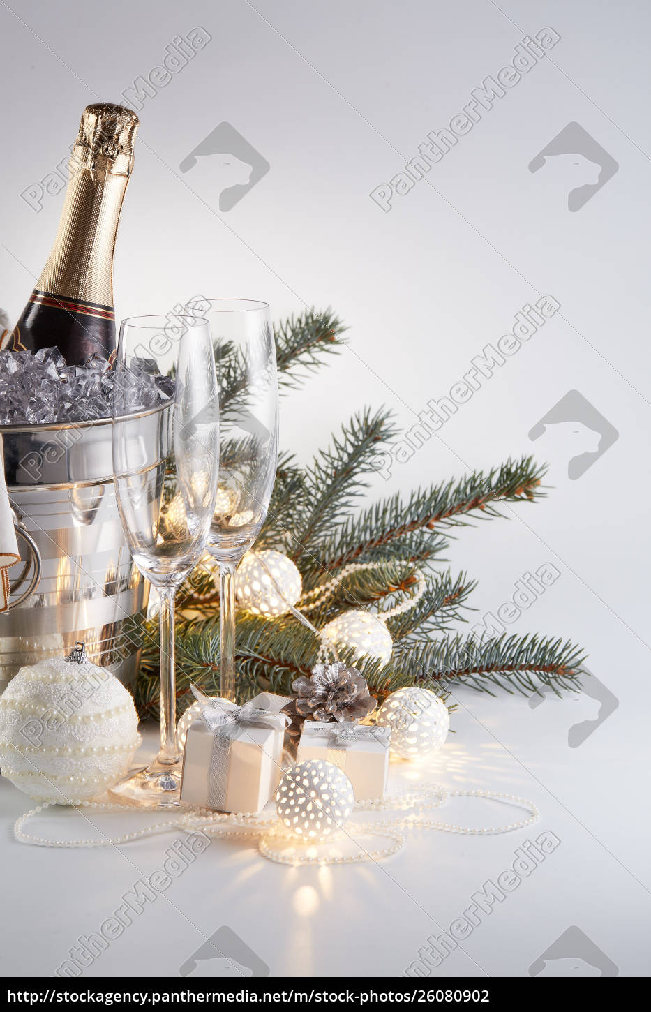 champagne, and, christmas, and, new, year - 26080902