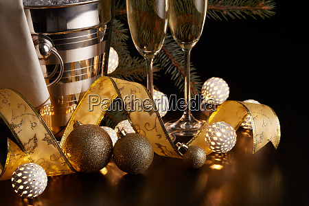 champagne, and, christmas, and, new, year - 26080903
