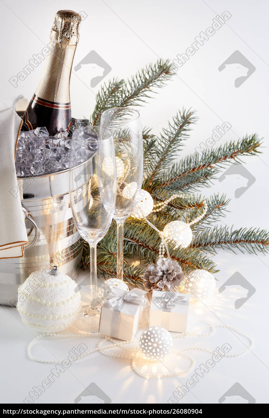 champagne, and, christmas, and, new, year - 26080904
