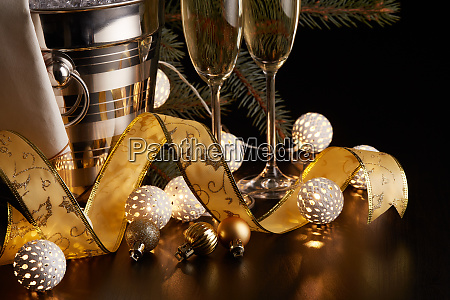champagne, and, christmas, and, new, year - 26080905