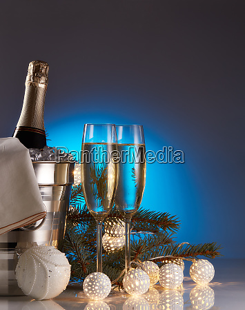 champagne, and, christmas, and, new, year - 26080914