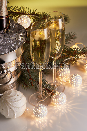 champagne, and, christmas, and, new, year - 26080917