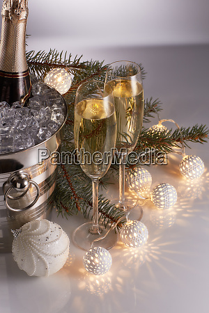 champagne, and, christmas, and, new, year - 26080918