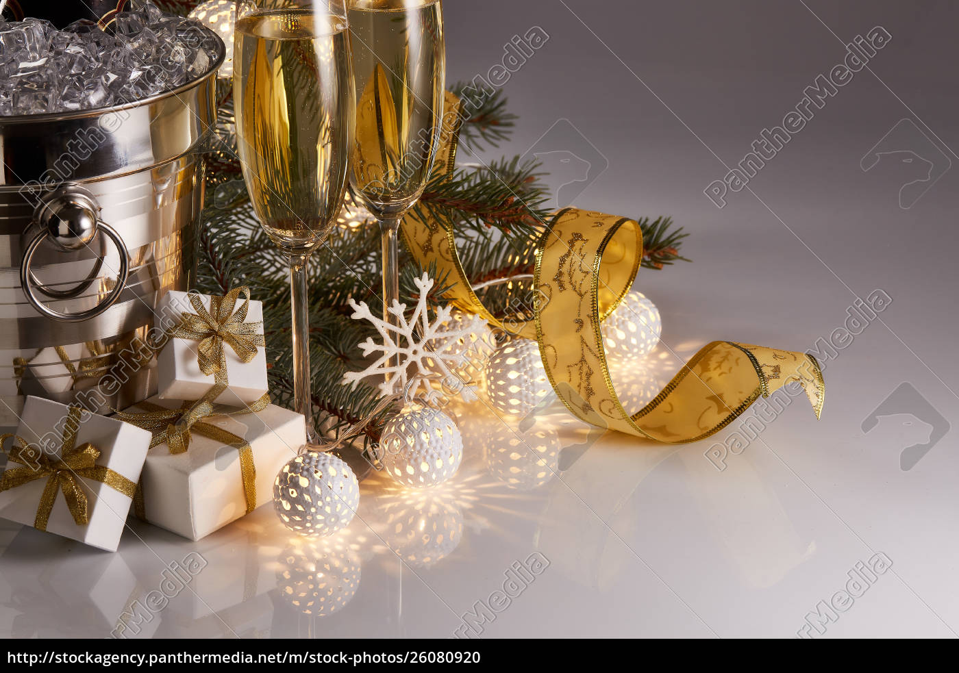 champagne, and, christmas, and, new, year - 26080920