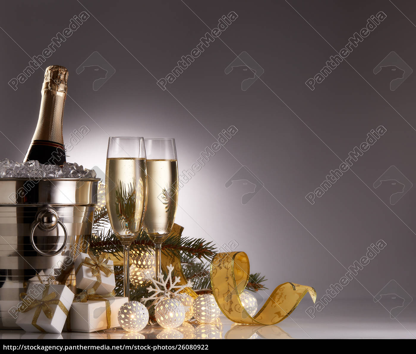 champagne, and, christmas, and, new, year - 26080922