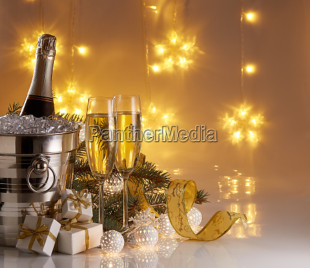 champagne, and, christmas, and, new, year - 26080923