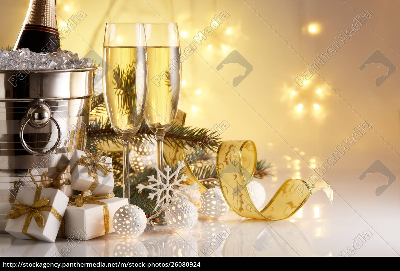 champagne, and, christmas, and, new, year - 26080924
