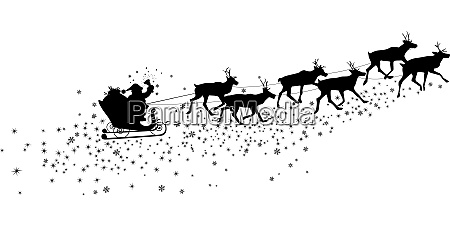 santa claus in a sleigh with