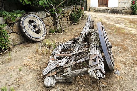 remains of a traditional two wheeler