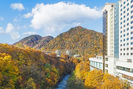 jozankei onsen in autumn japan