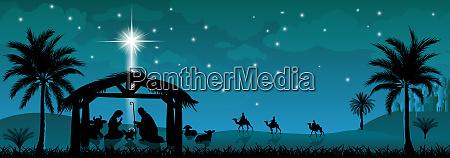 holy family nativity scene