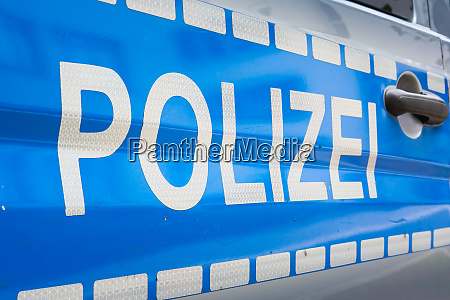 german, polizei, car, label, badge, police - 26084751