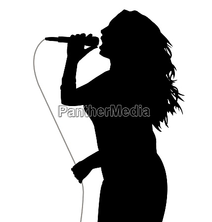 woman singer holding a microphone with