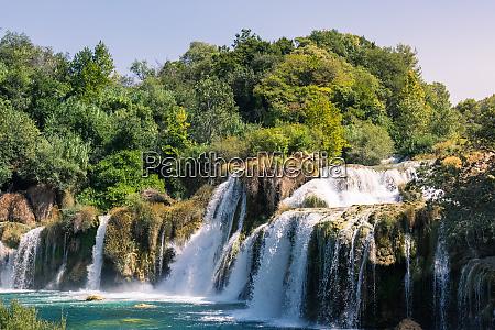 krka river park falls famous body