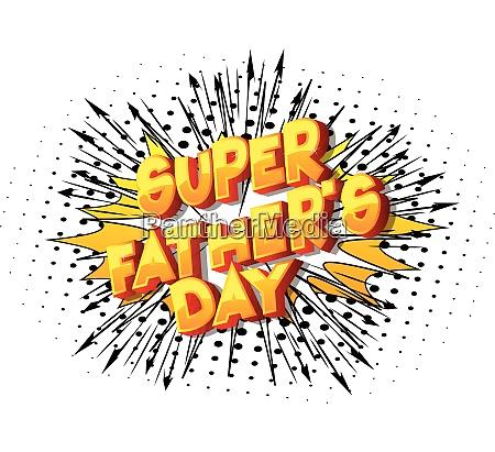 super fathers day comic book