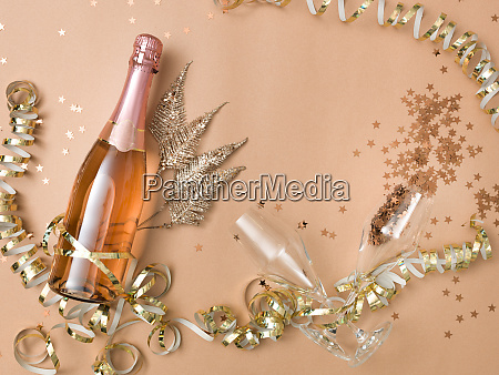 new, year, background, with, bottle, of - 26087897