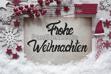 christmas decoration calligraphy frohe weihnachten means