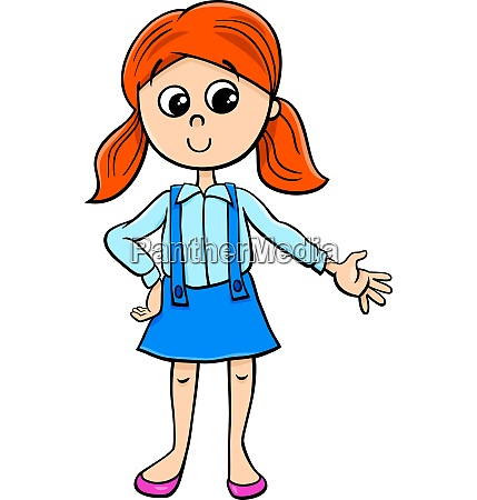 cute girl charakter zeichentrickfilm