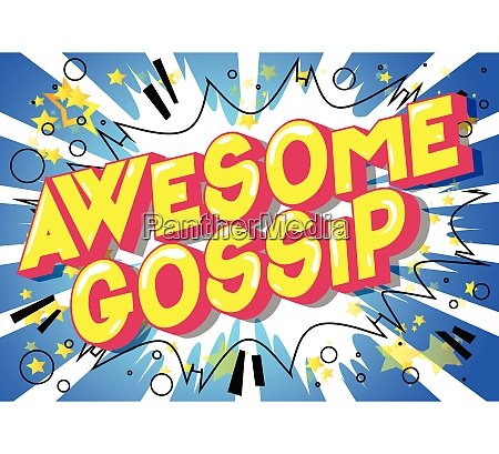 awesome gossip comic book style