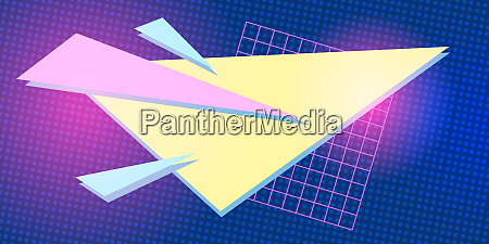 triangle 1980 background retro vector