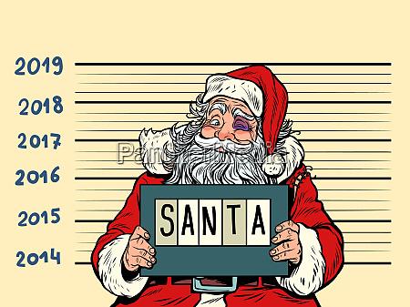 bad santa claus arrested 2019 happy
